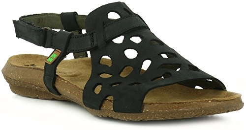 Velcro N5064 Negro Pleasant Sandalias Mujer Black wakataua 38 AqBaq