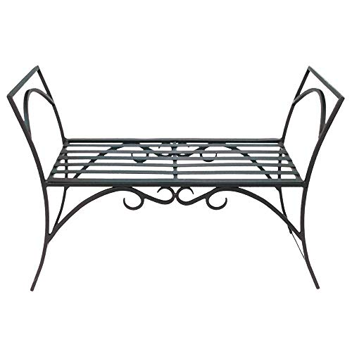 Achla Designs Wrought Iron Decorative Garden Arbor Bench (Renewed)