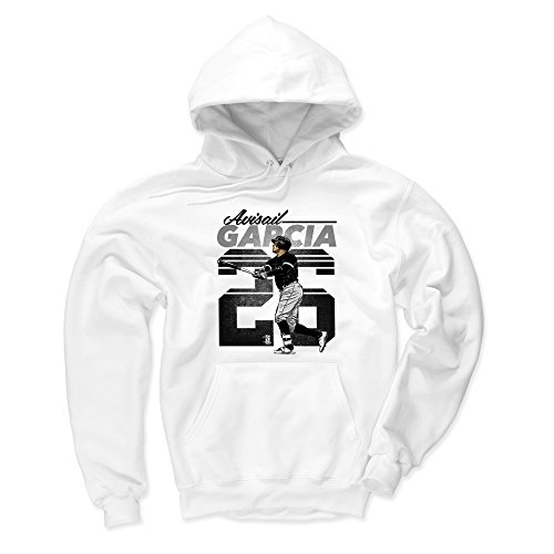 500 LEVEL Chicago White Sox Men's Hoodie - XXX-Large White - Avisail Garcia Retro K