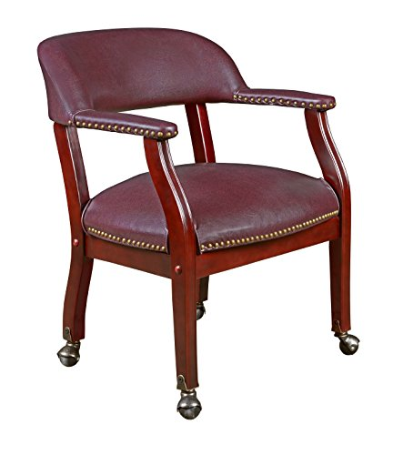 Regency Ivy League Captain Chair with Casters, Burgundy by Regency