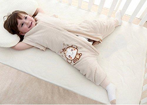 Happy Cherry Saco de Dormir con Piernas Mangas Separables Bolsa de Dormir Algodón para Bebé 0-4 Años Primavera Otoño Rayas: Amazon.es: Ropa y accesorios