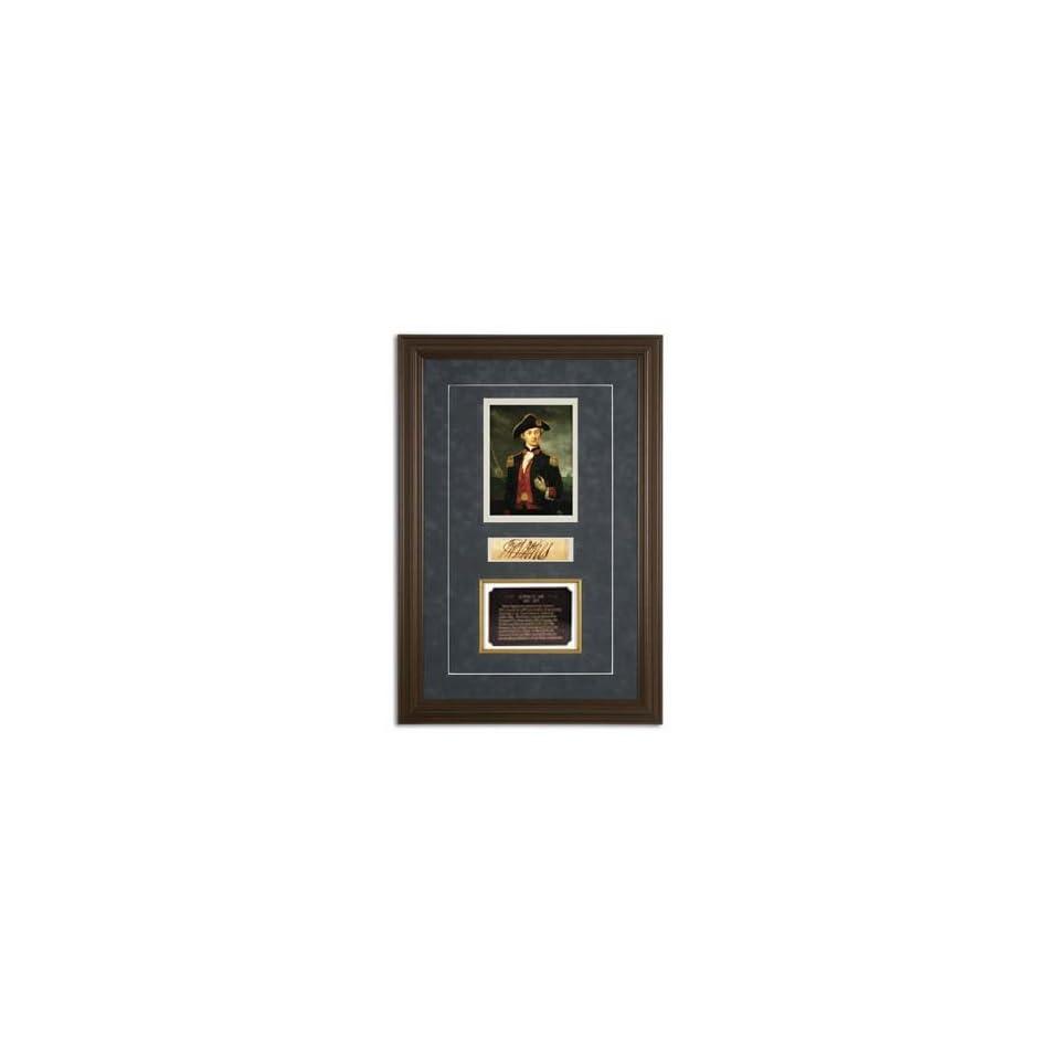 John Paul Jones Framed Document