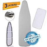 """Ironing Board Cover and Pad, Silicone Coated Resists Scorching and Staining Ironing Board Pads with Drawstring,15""""x54"""""""