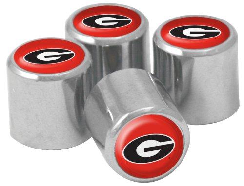 NCAA Georgia Bulldogs Metal Tire Valve Stem Caps, 4-Pack