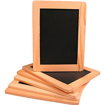 creative hobbies synthetic chalkboard with unfinished wood frame 4 x 6 inch pack of 6 chalkboards