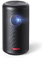 Anker Nebula Capsule Max, Mini Projektor in Pint-Größe, Beamer mit WLAN und 200 ANSI Lumen, 8W Lautsprecher, 100 Zoll Bildformat, 4 Stunden Wiedergabezeit, ideal für Draußen