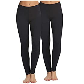 Legging Velvety Super Soft By Felina Black 2 Pack 418ipVELzHL