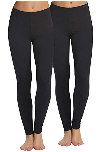 Legging Velvety Super Soft LightWeight By Felina Black 2 Pack New Arrival (Medium, Black)