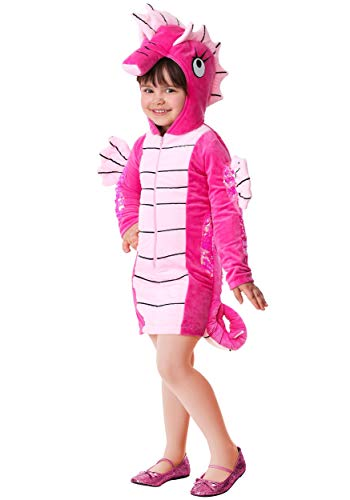 Toddler Girl's Seahorse Costume 4T Pink ()