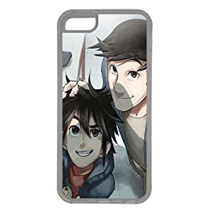 iPhone 5C case ,fashion durable Transparent side design phone case, Rubber material phone cover ,with Tadashi and Hiro Hamada .