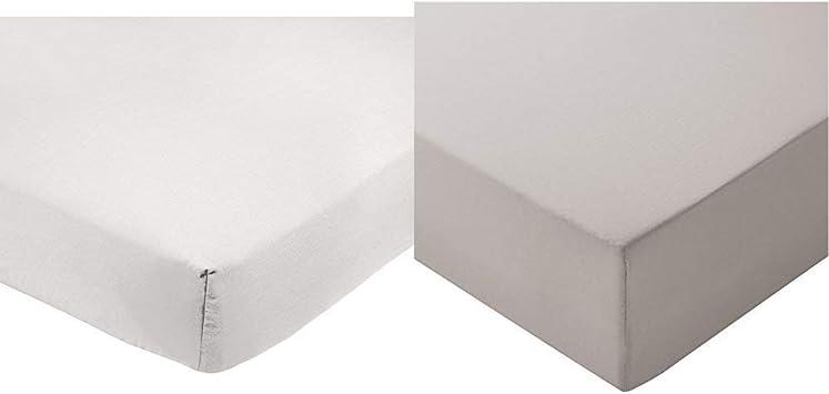 Basics Drap-housse en microfibre Gris clair 160/x/200/x/30/cm