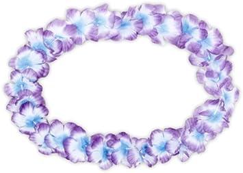 Hawaiian Lei necklaces UK stock, great value! UV glow Hawaiian garland 12 pack