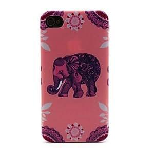Zaki- Pink Elephant Pattern Hard Case for iPhone 4/4S
