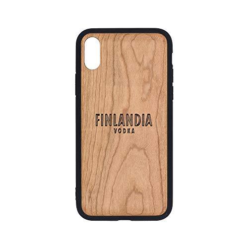 Logo Finlandia Vodka - iPhone Xs Case - Cherry Premium Slim & Lightweight Traveler Wooden Protective Phone Case - Unique, Stylish & Eco-Friendly - Designed for iPhone Xs ()