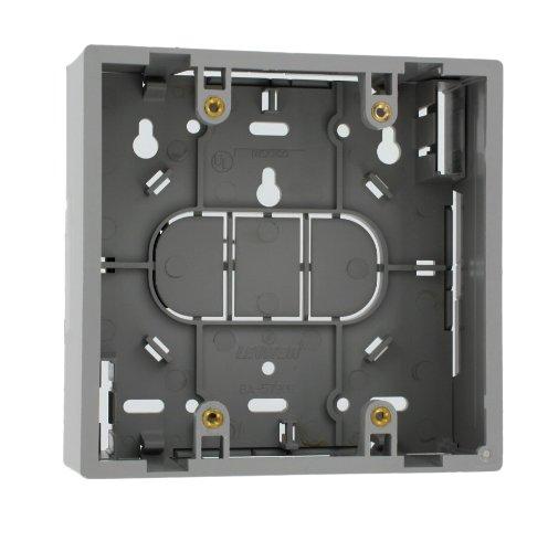 Leviton 42777-2GA Surface Mount Backbox, Dual Gang, Grey, 1.89''