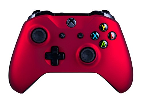 Xbox One S Wireless Controller for Microsoft Xbox One - Soft Touch Red X1 - Added Grip for Long Gaming Sessions - Multiple Colors Available (Control Freaks Xbox 360 Green)