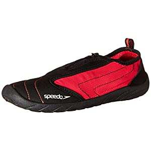 Speedo Women's Zipwalker 4.0 Water Shoe, Black/Pink, 7 M US