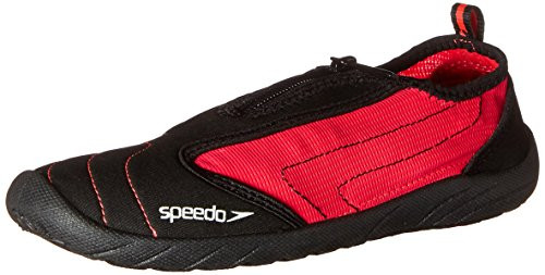Speedo Women's Zipwalker 4.0 Water Shoe, Black/Pink, 8 M US
