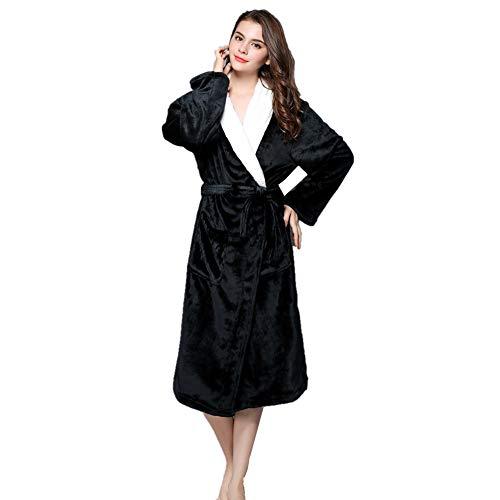 Solid pigiama Colored Dimensioni cesto peluche Gray con tasche Da doccia unisex Plus large cappuccio da camicia Housecoat uomo in con donna Nero coppia accappatoio da pile invernale notte qxgzOqBw
