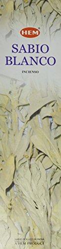 White Sage 16 Inches Tall - 60 Jumbo Sticks Box - HEM Incense