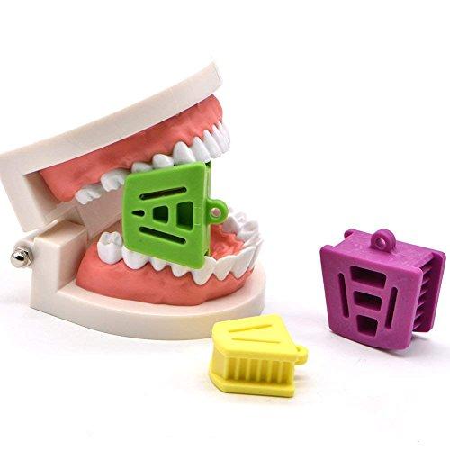 (WSERE 3 Pack Professional Dental Bite Block Mouth Cheek Retractors Tongue Guard Autoclavable Oral Care Props Small Medium Large)