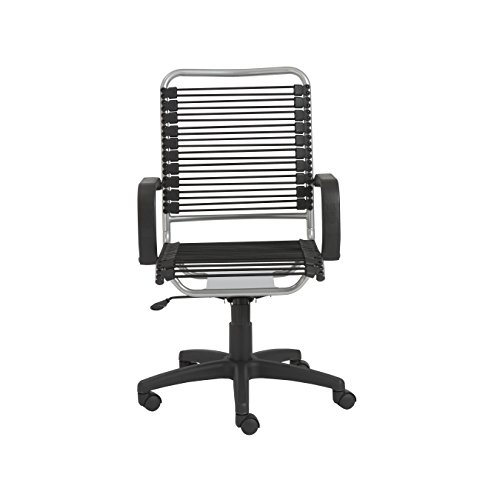 Eurø Style 02549 Bradley Bungie office chair L: 27 W: 23 H: 37.5-43 SH: 17.5-23 Black/Aluminum
