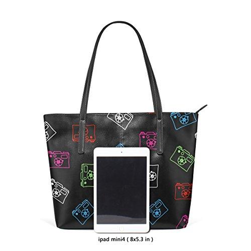 Top Handbag Bags Cameras Handle Fashion Totes Shoulder Women's Leather TIZORAX PU Purses Multicolor WnSq0vw1R