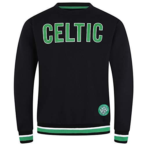 Celtic FC Official Soccer Gift Mens Crest Sweatshirt Black XL