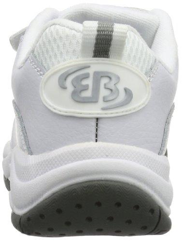 Bruetting Racket V - Zapatillas deportivas para interior de cuero unisex Blanco (WEISS)