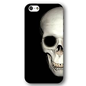 Human Skull For Iphone 5C Case Cover lim Phone Case