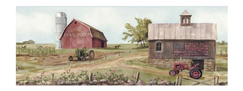 York Wallcoverings BG1635BD Tractor/Barn Border