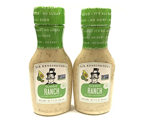 Sir Kensington's Ranch Avocado Oil with Lime, 9 oz | 2 Pack