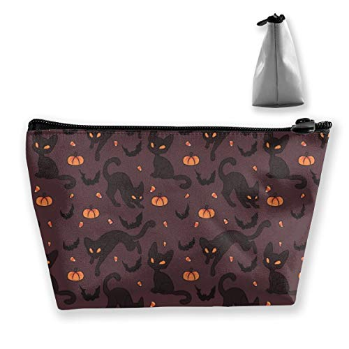 RobotDayUpUP Halloween Bat Cat Pumpkin Cool Womens Travel Cosmetic Bag Portable Toiletry Brush Storage High Capacity Pen Pencil Bags Accessories Sewing Kit Pouch Makeup Carry Case]()