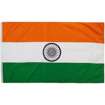 Quality Standard Flags India Polyester Flag, 3 by 5'