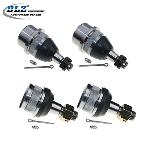 DLZ 4 Pcs Front Suspension Kit-2 Lower 2 Upper Ball Joints for 1990-2001 Jeep Cherokee, 1993 1994 1995 1996 1997 1998 Jeep Grand Cherokee, 1997-2006 Jeep TJ, 1990-2006 Jeep Wrangler