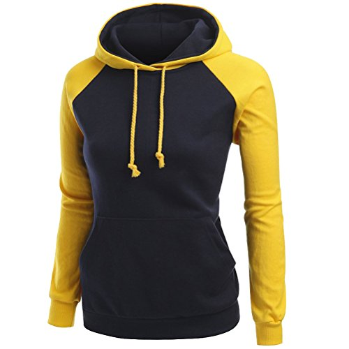 Laixing Casual Women's Long Sleeve Sweater Coat Warm Pullover Hooded Sweatshirt 1856