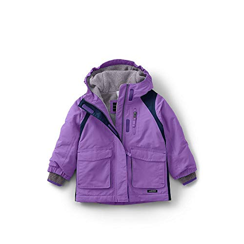 Lands End Kids Fleece - Lands' End Toddler Girls Squall Waterproof Winter Parka, 2T, Violet Lavender