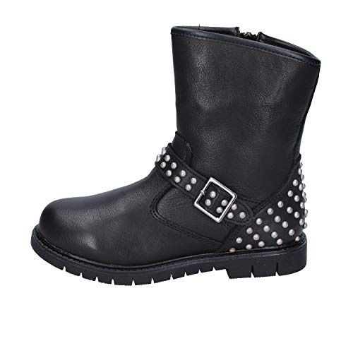 DIDI BLU Boots Baby-Girls Leather Black 1.5-2 US