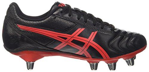 Asics Men's Lethal Tackle Gymnastics Shoes, Black Nero (Onyx/Vermilion/Black)