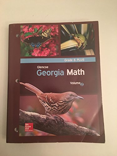 Glencoe Georgia Math Volume 2 Grade 6 Plus