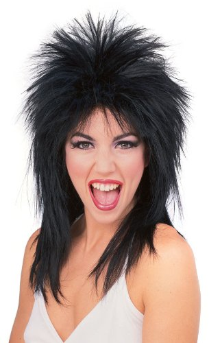 - Rubie's Spiked Rocker Wig, Black, One Size