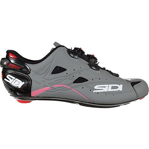 ジーンズ眼(シディ) Sidi Shot Giro D'Italia Cycling Shoe メンズ ロードバイクシューズBlack/Grey/Pink [並行輸入品]
