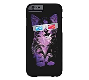 3D Sace Cat iPhone 4s Black Barely There Phone Case - Design By FSKcase?