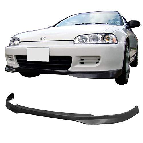 IKON MOTORSPORTS Front Bumper Lip Fits 1992-1995 HONDA CIVIC COUPE & HATCHBACK | T-R Style PP - Polypropylene ()