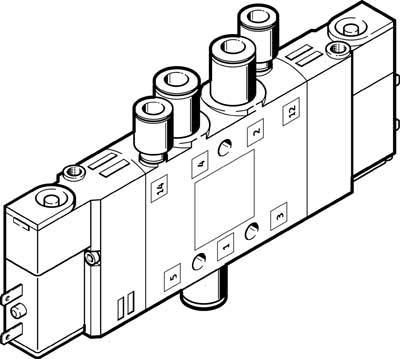 Festo 196880 Model CPE10-M1BH-5JS-QS-6 Solenoid Valve