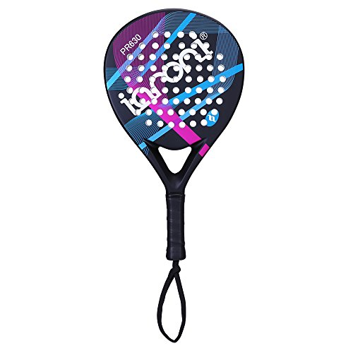 ianoni Tennis Padel Beach Racket Tennis Paddle with Carbon Fiber Face and EVA Memory Foam Core-Used Interchangeably for Paddle(Padel ) and Paddle Tennis(POP Tennis)