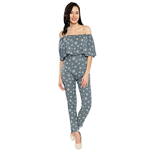 Women's Floral Printed Off Shoulder Jumpsuit