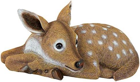 Handpainted Amazon Jungle Treasure Chest Deer