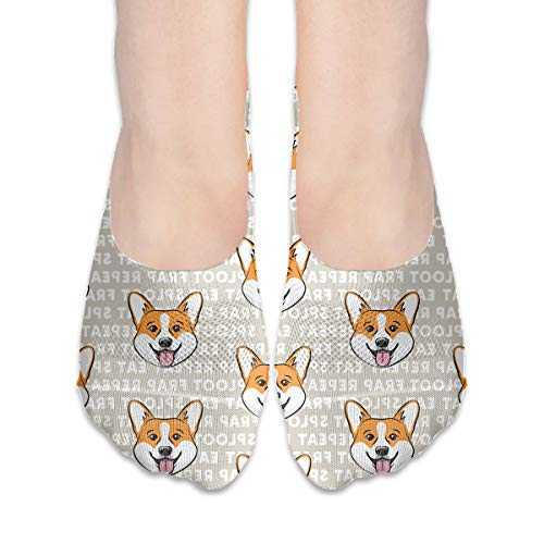 Naughty Pickups Look Good Corgi No Show Showless Invisible Fashion Flat Line Socks Coration Theme Ornament Clothing Dress Costume Dress