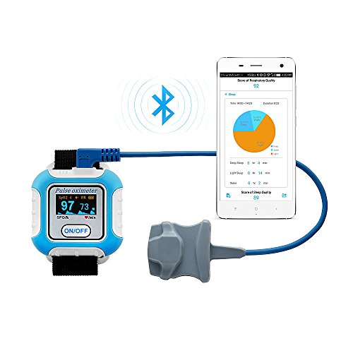 Sleep Apnea Testing At Home Real Time Apnea, Respiration, SpO2, Pulse Rate Monitor Bluetooth with Android APP